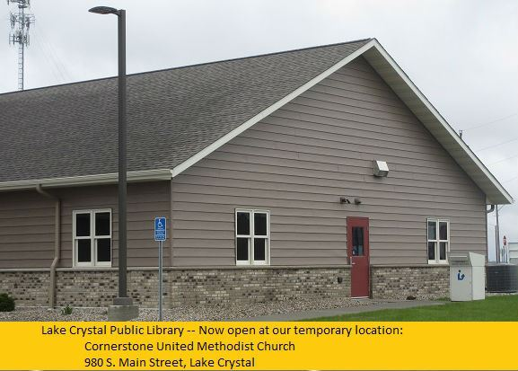 Lake Crystal Library Temporary Location Entrance