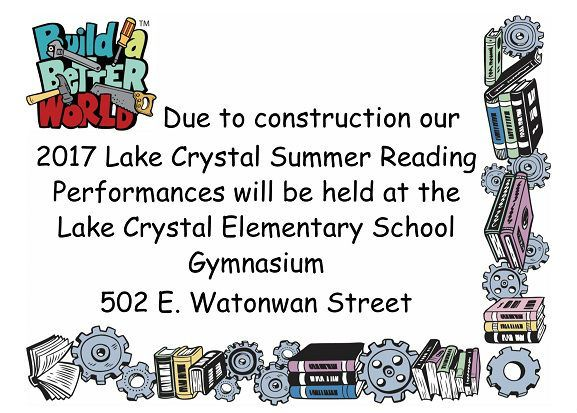 Lake Crystal Summer Reading Location