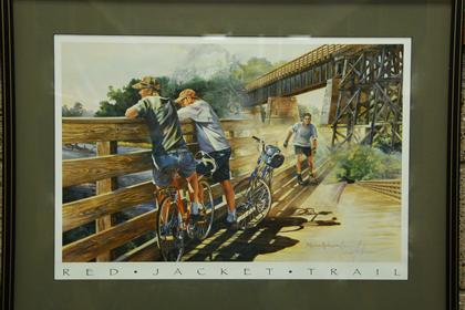 Red Jacket Trail print
