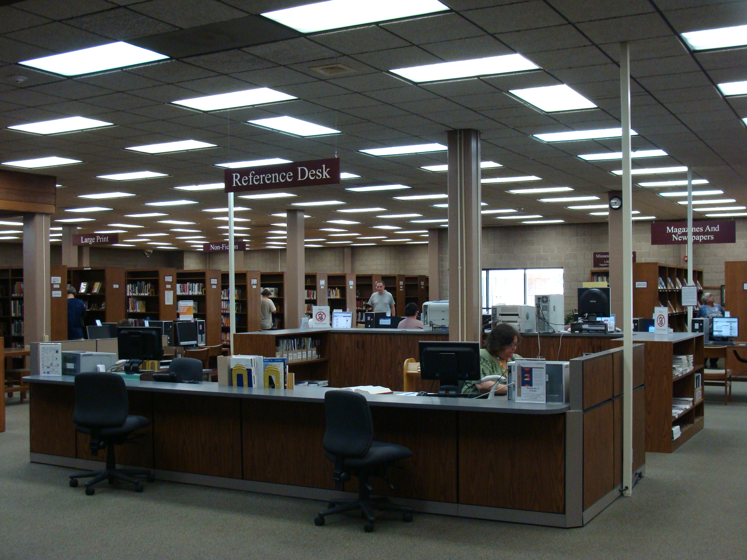 Adult wing of the library
